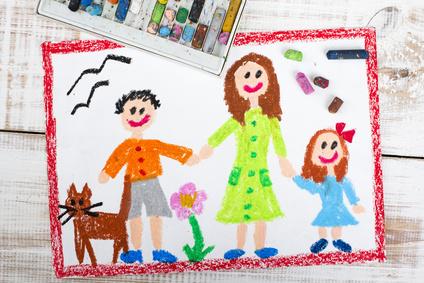 dessin famille parfaite